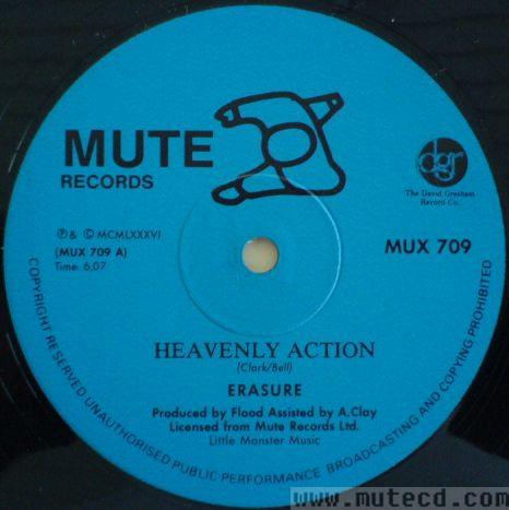 Erasure Heavenly Action