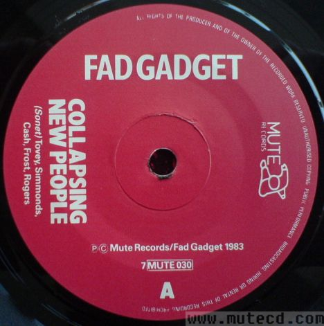 Fad Gadget One Mans Meat Remix